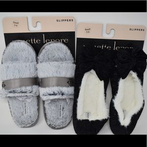 Nanette Lepore slippers small (5-6) 2 pairs